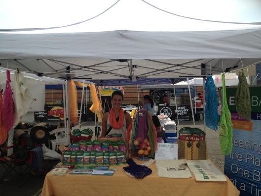 Sam Chester representing Eco-Bags at the LIC Flea & Food