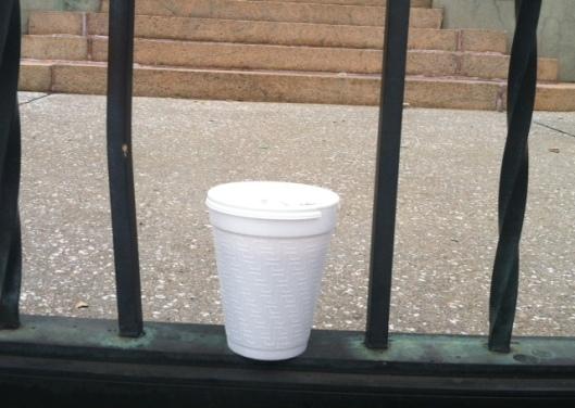 styrofoam cofee mug