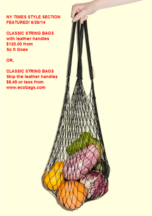 You decide  - 8.49 or 120.00! Choose ecobags.com